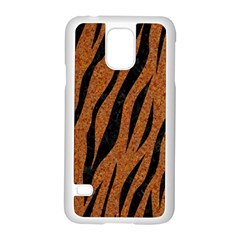 SKIN3 BLACK MARBLE & RUSTED METAL Samsung Galaxy S5 Case (White)