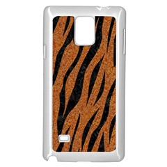 SKIN3 BLACK MARBLE & RUSTED METAL Samsung Galaxy Note 4 Case (White)