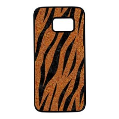 SKIN3 BLACK MARBLE & RUSTED METAL Samsung Galaxy S7 Black Seamless Case