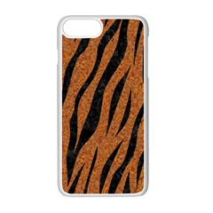 SKIN3 BLACK MARBLE & RUSTED METAL Apple iPhone 7 Plus White Seamless Case