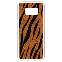 SKIN3 BLACK MARBLE & RUSTED METAL Samsung Galaxy S8 White Seamless Case