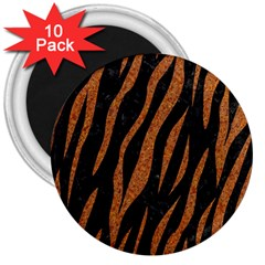 Skin3 Black Marble & Rusted Metal (r) 3  Magnets (10 Pack)  by trendistuff