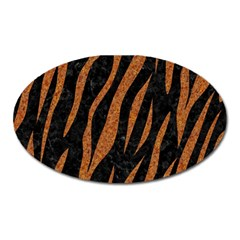Skin3 Black Marble & Rusted Metal (r) Oval Magnet by trendistuff