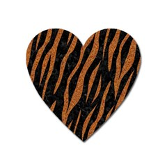 Skin3 Black Marble & Rusted Metal (r) Heart Magnet by trendistuff