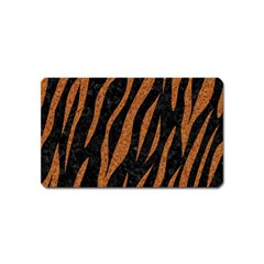 Skin3 Black Marble & Rusted Metal (r) Magnet (name Card) by trendistuff