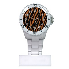 Skin3 Black Marble & Rusted Metal (r) Plastic Nurses Watch by trendistuff