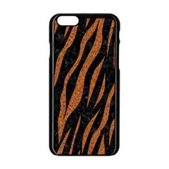 Skin3 Black Marble & Rusted Metal (r) Apple Iphone 6/6s Black Enamel Case by trendistuff