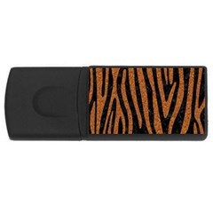 Skin4 Black Marble & Rusted Metal Rectangular Usb Flash Drive by trendistuff