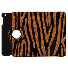 Skin4 Black Marble & Rusted Metal Apple Ipad Mini Flip 360 Case by trendistuff