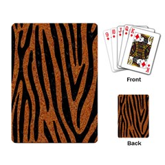 Skin4 Black Marble & Rusted Metal (r) Playing Card by trendistuff