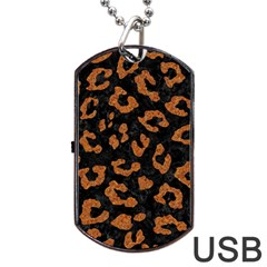Skin5 Black Marble & Rusted Metal Dog Tag Usb Flash (one Side) by trendistuff