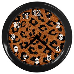 Skin5 Black Marble & Rusted Metal (r) Wall Clocks (black) by trendistuff