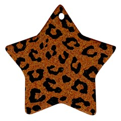 Skin5 Black Marble & Rusted Metal (r) Star Ornament (two Sides) by trendistuff