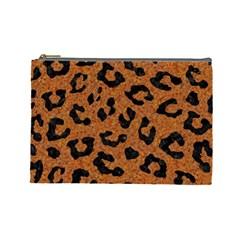 Skin5 Black Marble & Rusted Metal (r) Cosmetic Bag (large)  by trendistuff