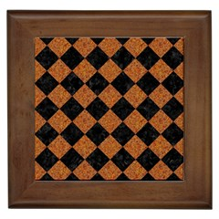Square2 Black Marble & Rusted Metal Framed Tiles by trendistuff