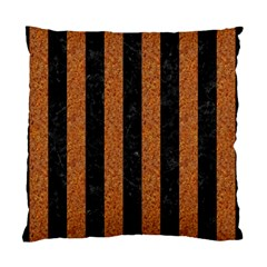 Stripes1 Black Marble & Rusted Metal Standard Cushion Case (two Sides) by trendistuff