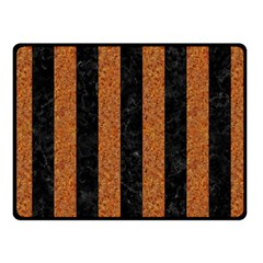 Stripes1 Black Marble & Rusted Metal Fleece Blanket (small) by trendistuff
