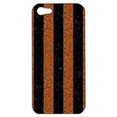 Stripes1 Black Marble & Rusted Metal Apple Iphone 5 Hardshell Case by trendistuff