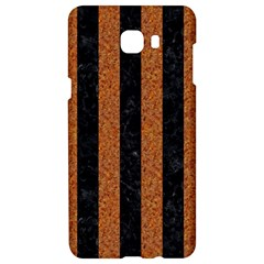 Stripes1 Black Marble & Rusted Metal Samsung C9 Pro Hardshell Case  by trendistuff
