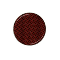 Woven2 Black Marble & Reddish Brown Wood Hat Clip Ball Marker (4 Pack) by trendistuff