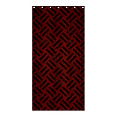 Woven2 Black Marble & Reddish Brown Wood Shower Curtain 36  X 72  (stall)  by trendistuff
