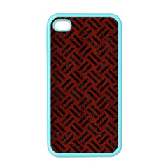 Woven2 Black Marble & Reddish Brown Wood Apple Iphone 4 Case (color) by trendistuff