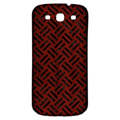 Woven2 Black Marble & Reddish Brown Wood Samsung Galaxy S3 S Iii Classic Hardshell Back Case by trendistuff