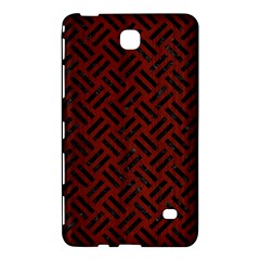 Woven2 Black Marble & Reddish Brown Wood Samsung Galaxy Tab 4 (7 ) Hardshell Case  by trendistuff