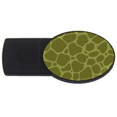 Autumn Animal Print 1 Usb Flash Drive Oval (4 Gb) by tarastyle