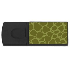 Autumn Animal Print 1 Rectangular Usb Flash Drive by tarastyle
