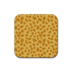 Autumn Animal Print 2 Rubber Square Coaster (4 Pack)  by tarastyle