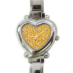 Autumn Animal Print 2 Heart Italian Charm Watch by tarastyle