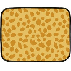 Autumn Animal Print 2 Fleece Blanket (mini) by tarastyle