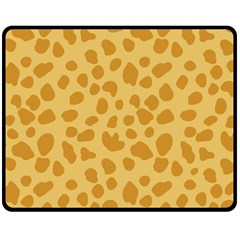 Autumn Animal Print 2 Double Sided Fleece Blanket (medium)  by tarastyle
