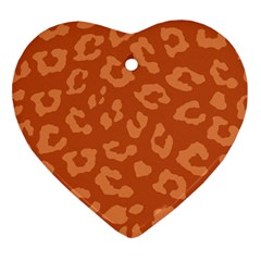 Autumn Animal Print 3 Ornament (heart) by tarastyle