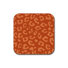 Autumn Animal Print 3 Rubber Coaster (square)  by tarastyle
