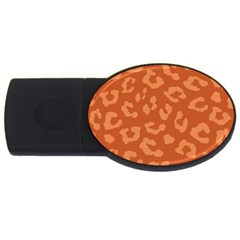 Autumn Animal Print 3 Usb Flash Drive Oval (2 Gb) by tarastyle