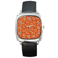 Autumn Animal Print 3 Square Metal Watch by tarastyle