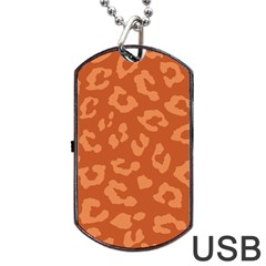 Autumn Animal Print 3 Dog Tag Usb Flash (two Sides) by tarastyle