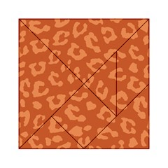 Autumn Animal Print 3 Acrylic Tangram Puzzle (6  X 6 ) by tarastyle