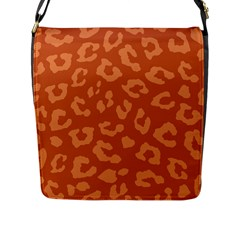 Autumn Animal Print 3 Flap Messenger Bag (l)  by tarastyle