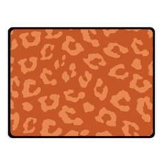 Autumn Animal Print 3 Double Sided Fleece Blanket (small)  by tarastyle