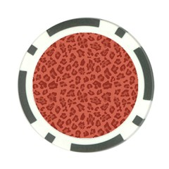 Autumn Animal Print 4 Poker Chip Card Guard by tarastyle
