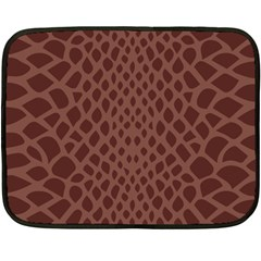 Autumn Animal Print 5 Fleece Blanket (mini) by tarastyle