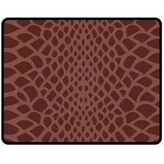 Autumn Animal Print 5 Fleece Blanket (medium)  by tarastyle