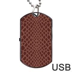 Autumn Animal Print 5 Dog Tag Usb Flash (two Sides) by tarastyle