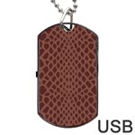 Autumn Animal Print 5 Dog Tag USB Flash (Two Sides) Back