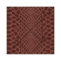 Autumn Animal Print 5 Acrylic Tangram Puzzle (6  X 6 ) by tarastyle