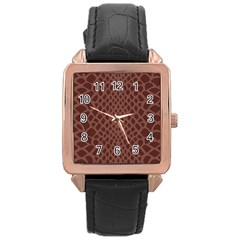 Autumn Animal Print 5 Rose Gold Leather Watch  by tarastyle