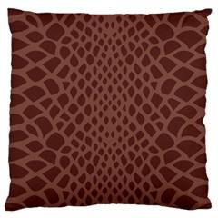 Autumn Animal Print 5 Large Flano Cushion Case (one Side) by tarastyle